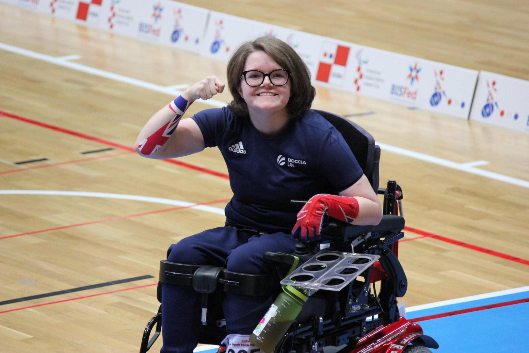 Claire Taggart playing Boccia